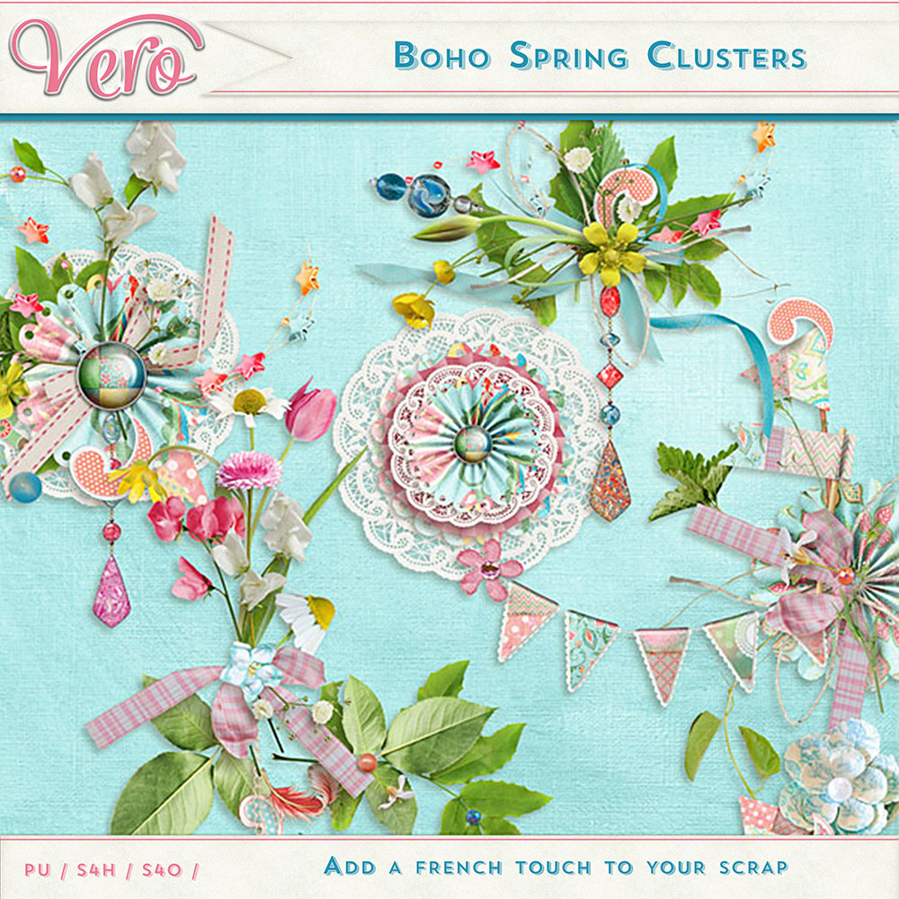 Boho Spring Clusters by Vero