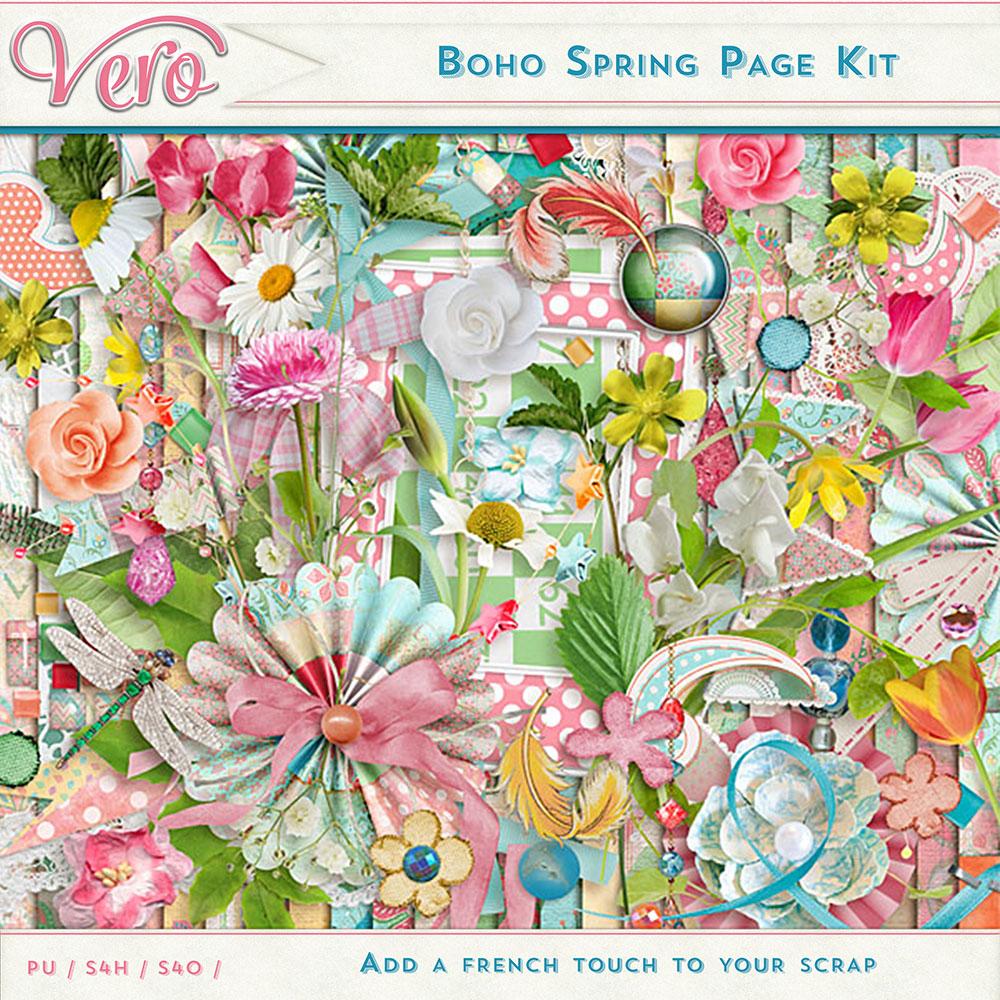 Boho Spring Page Kit by Vero