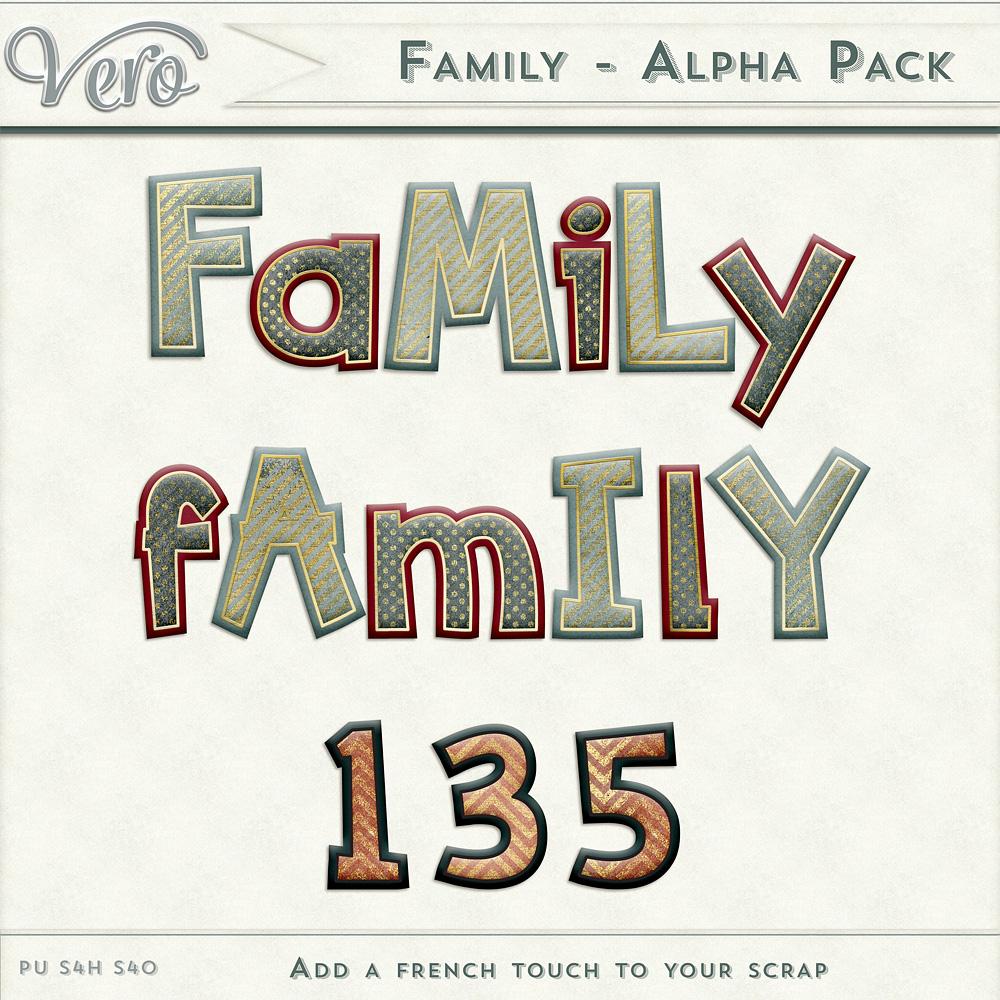 Family Alphas by Vero