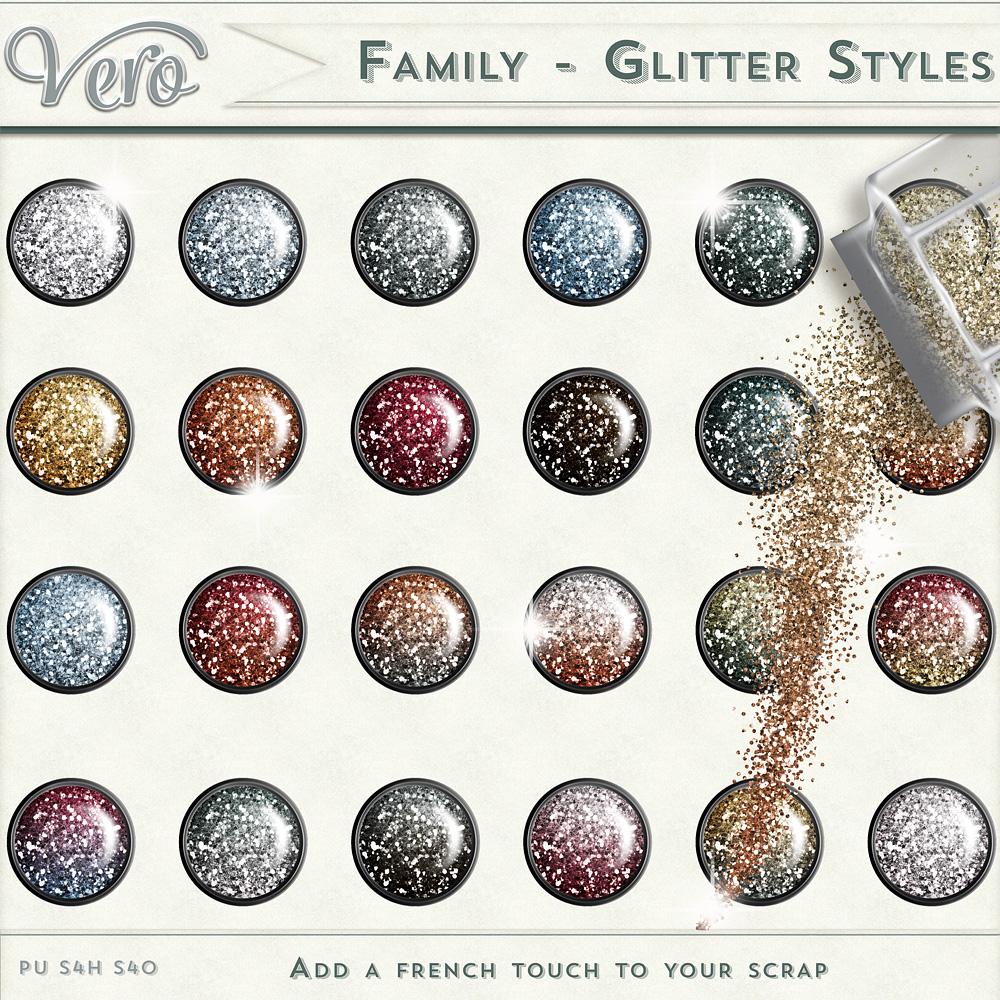 Family Glitter Styles by Vero