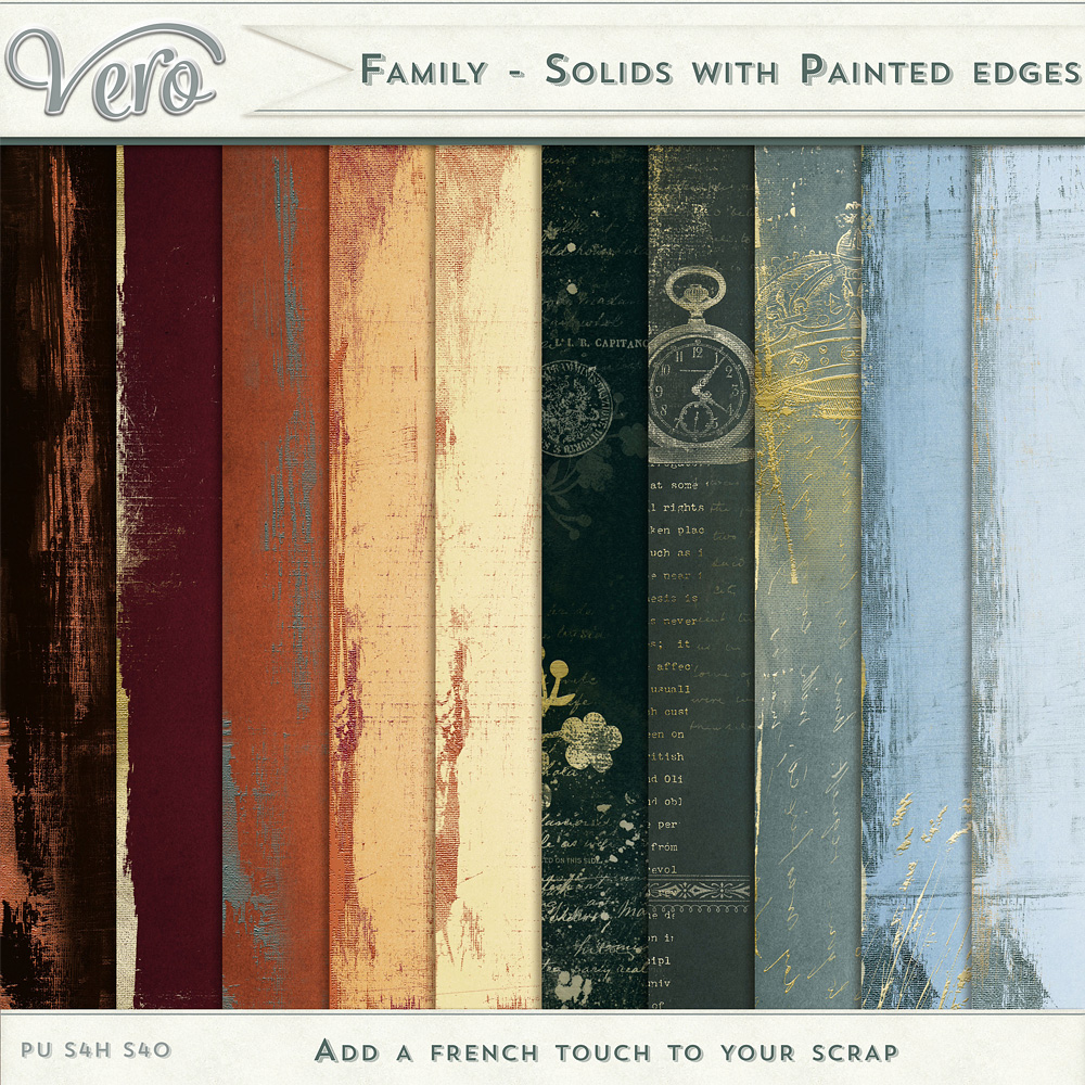 Family Painted Edge Papers by Vero