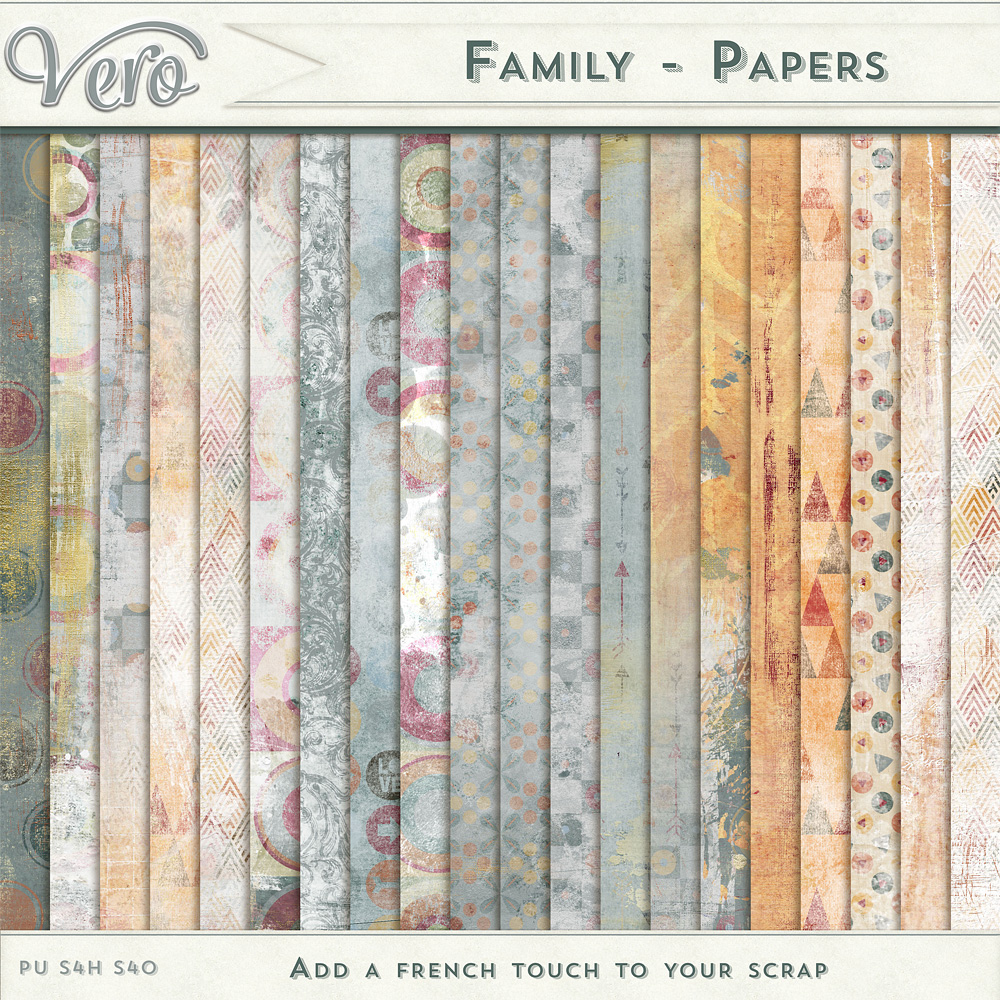 Family Pattern Papers by Vero
