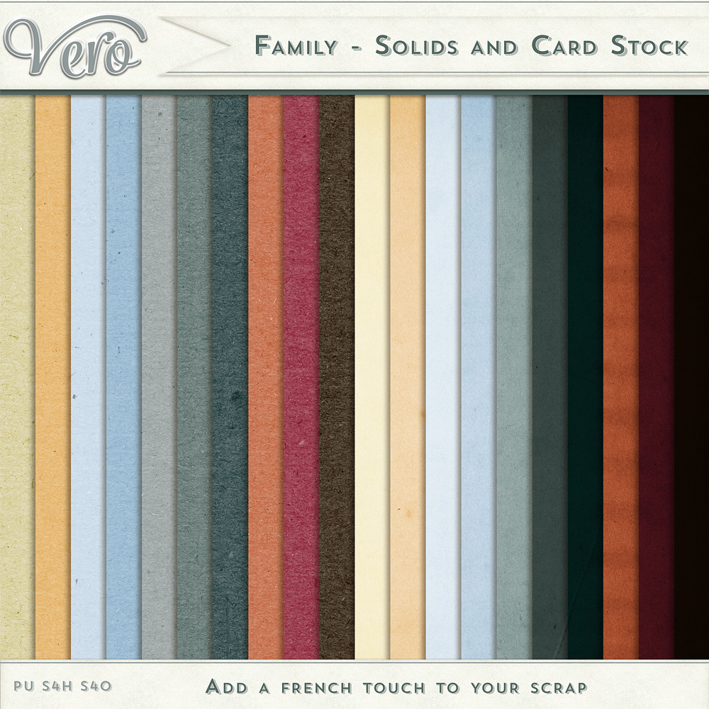 Family Solid Papers by Vero
