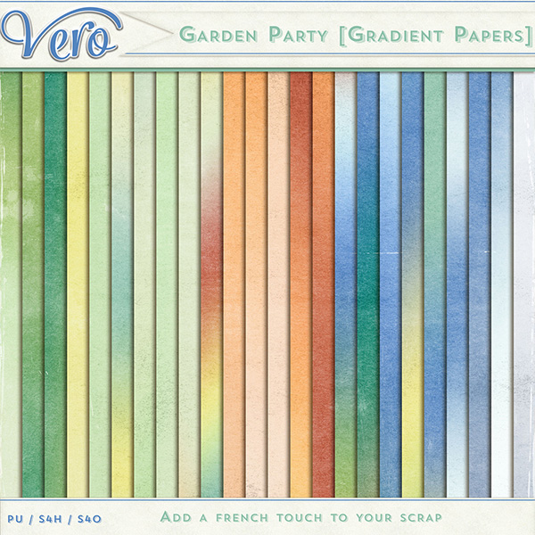 Garden Party Gradient Papers by Vero