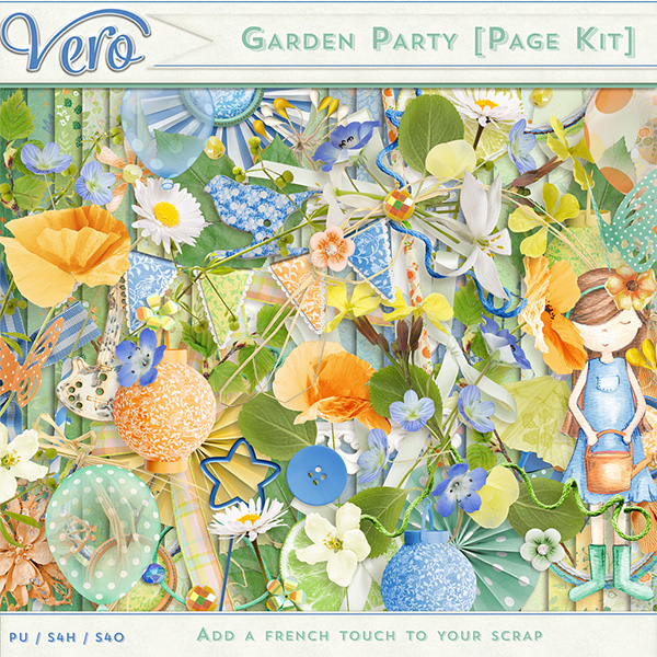 Garden Party Page Kit by Vero