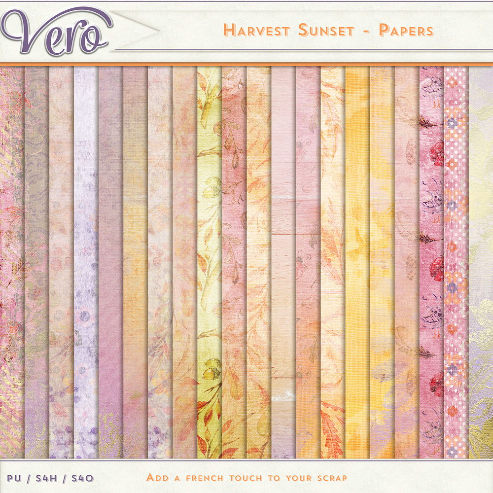 Harvest Sunset Papers by Vero