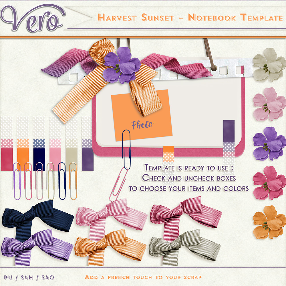 Harvest Sunset Notebook Template by Vero