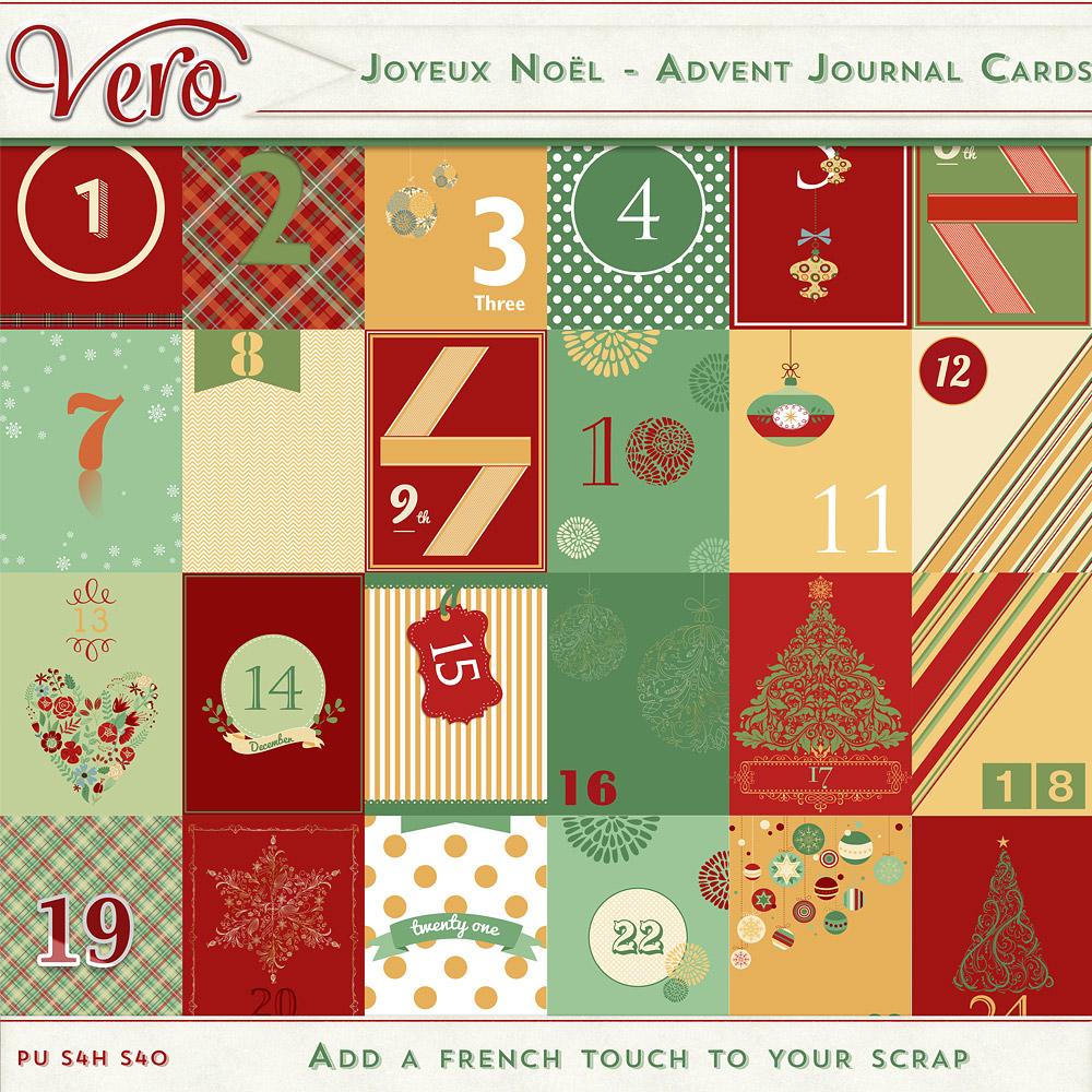 Joyeux Noel - Advent Journal Cards