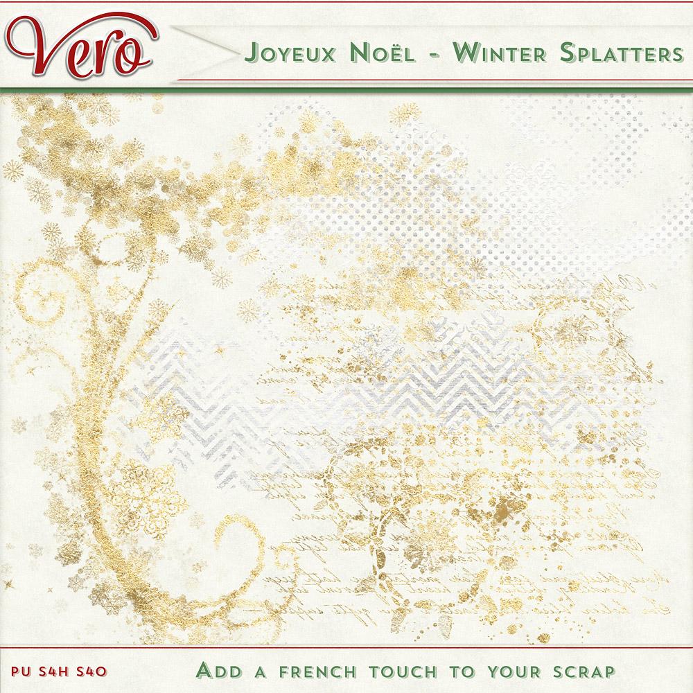 Joyeux Noel - Winter Splatters
