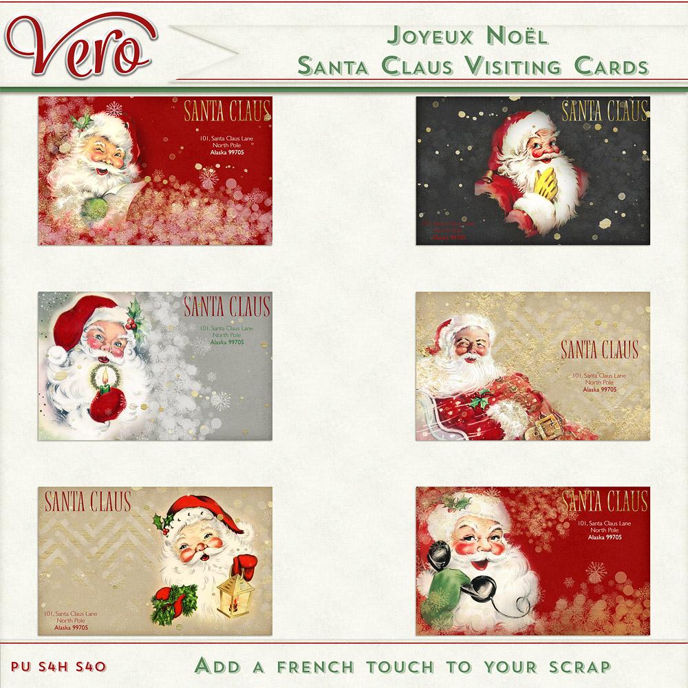 Joyeux Noel - Santa's visiting Cards