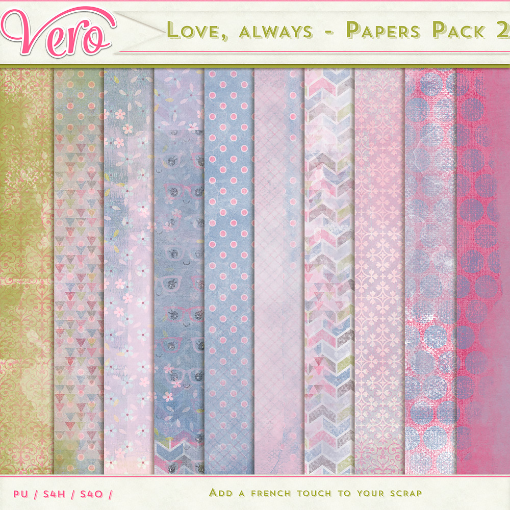 Love, Always - Papers Pack 2