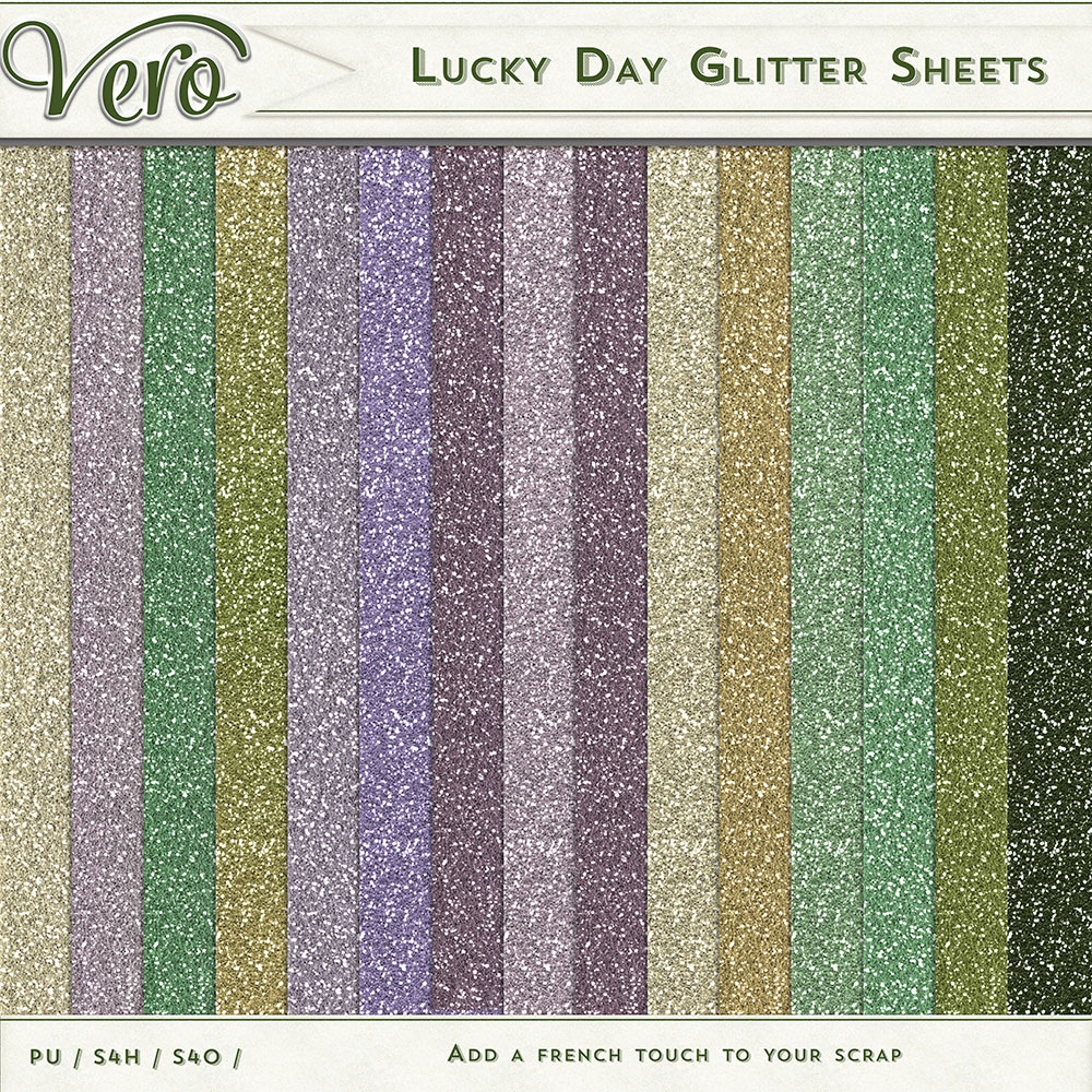 Lucky Day Glitter Papers by Vero