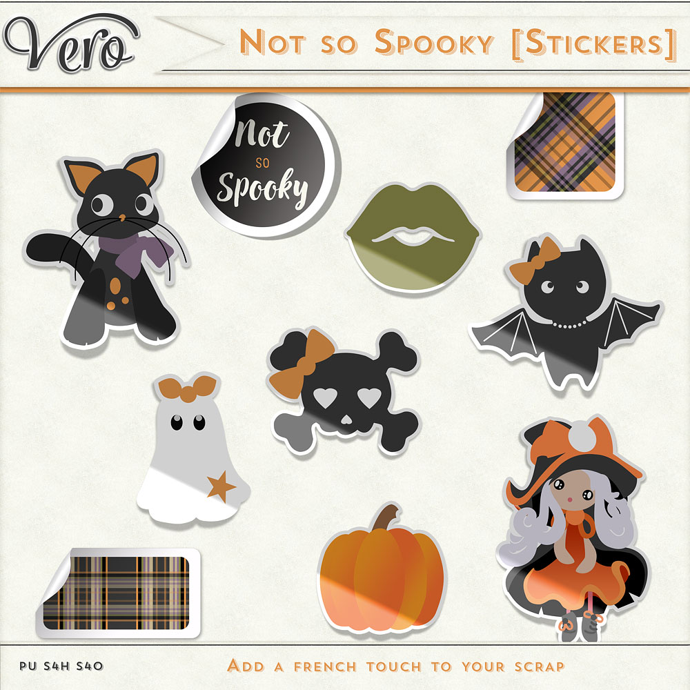 Not So Spooky Stickers by Vero