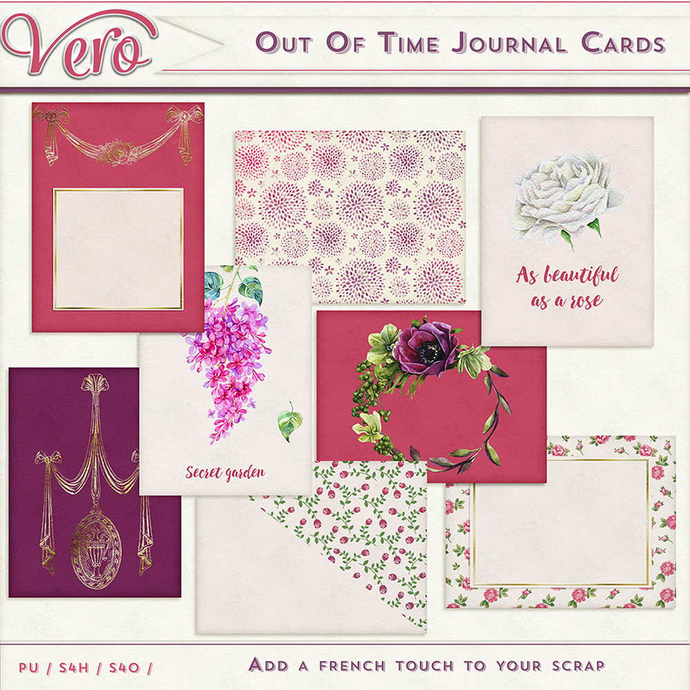 Out of Time Journal Cards by Vero
