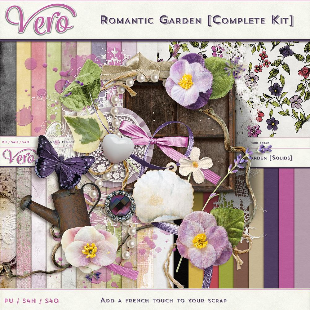 Romantic Garden Page Kit by Vero