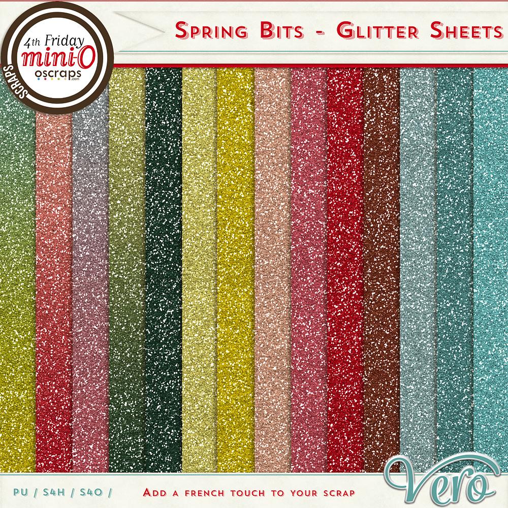 Spring Bits - Glitter sheets