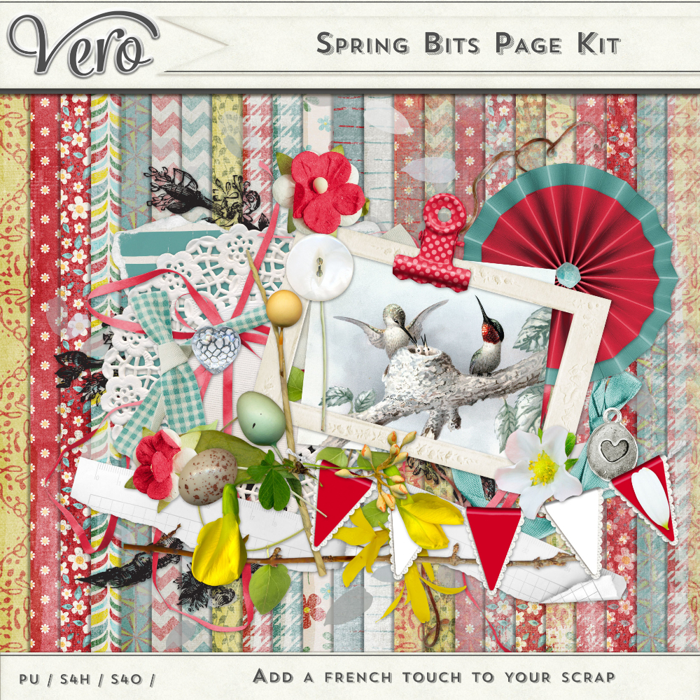 Spring Bits Page Kit by Vero