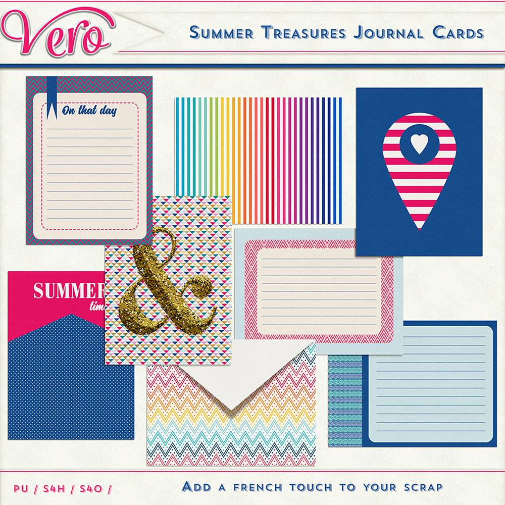 Summer Treasures Journal Cards by Vero