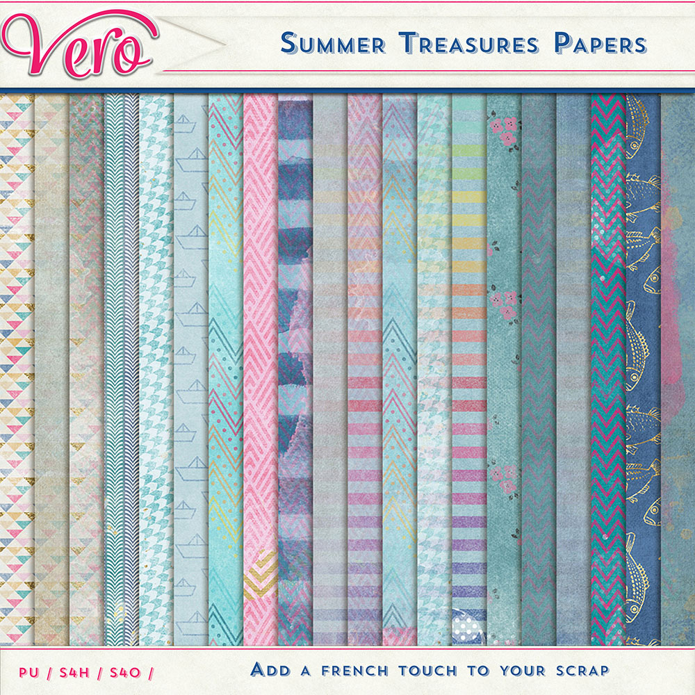 Summer Treasures Patterned Papers by Vero