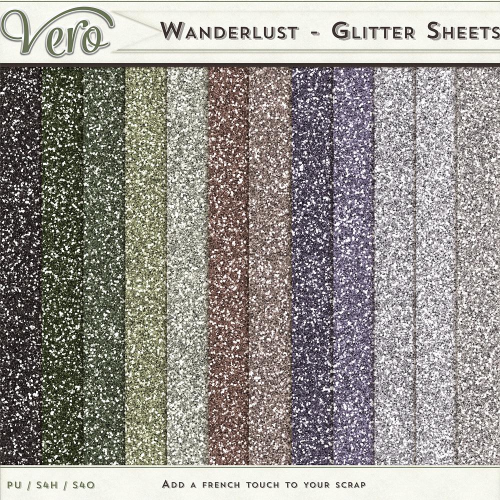 Wanderlust - Glitter Sheets