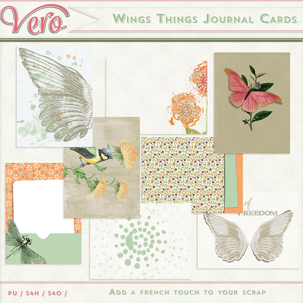 Wings Things Journal Cards by Vero