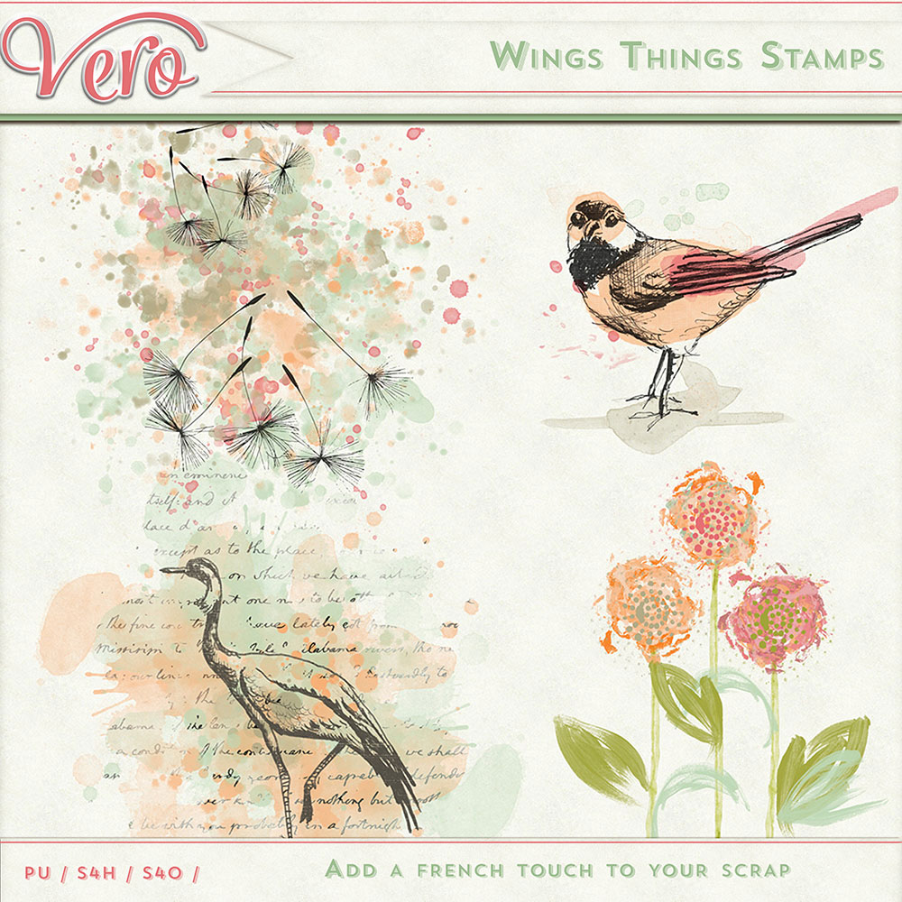 Wings Things Stamps by Vero