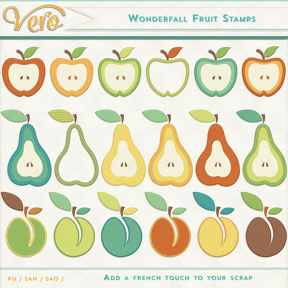 Wonderfall Fruit Stamps by Vero