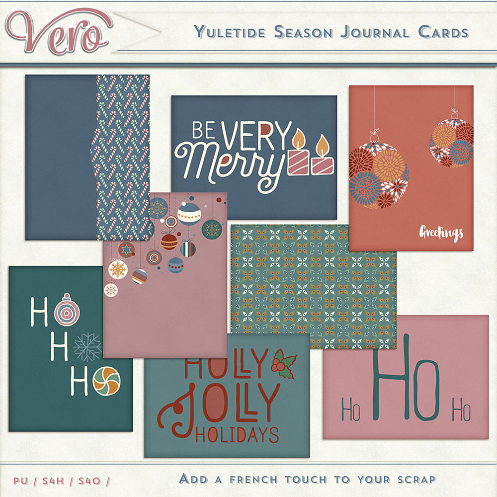 Yuletide Season Journal Cards by Vero
