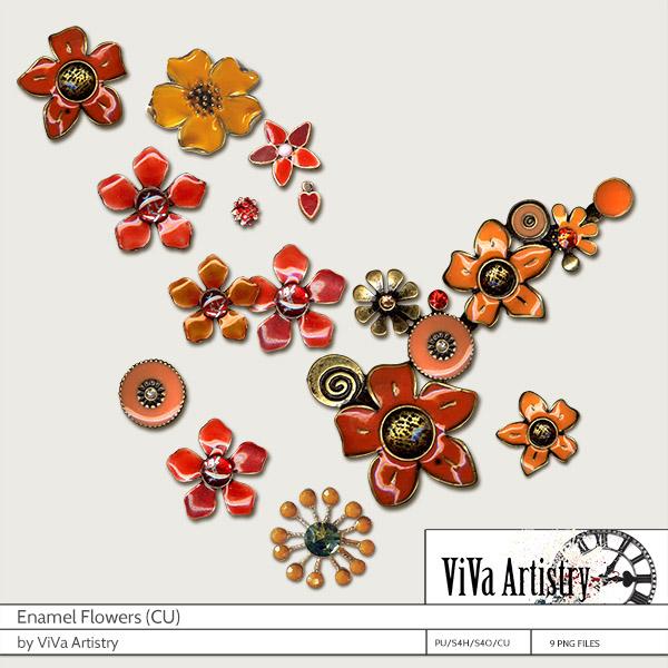 Enamel Flowers CU