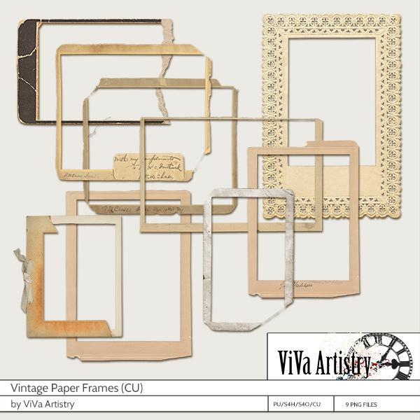 Vintage Paper Frames CU