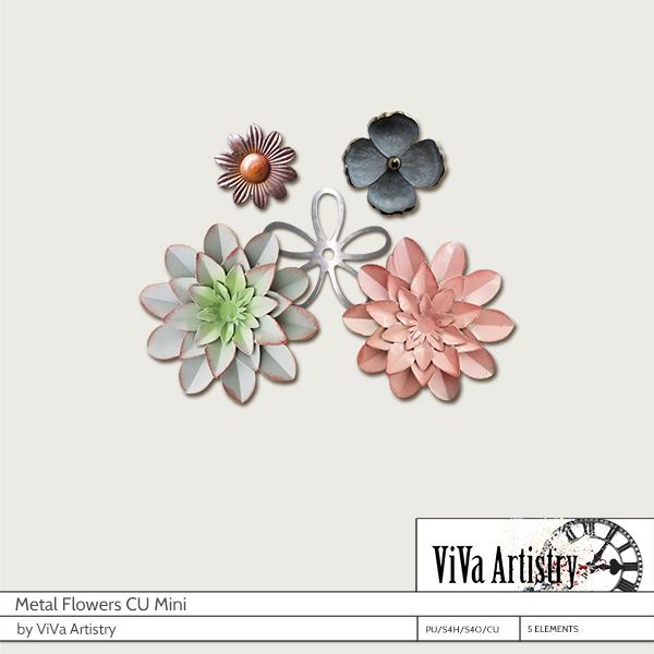 Metal Flowers Mini (CU)