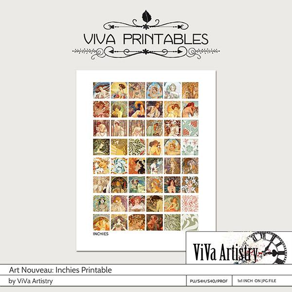 Art Nouveau Printables: Inchies