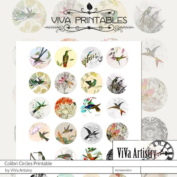 Colibri: Circle Printables