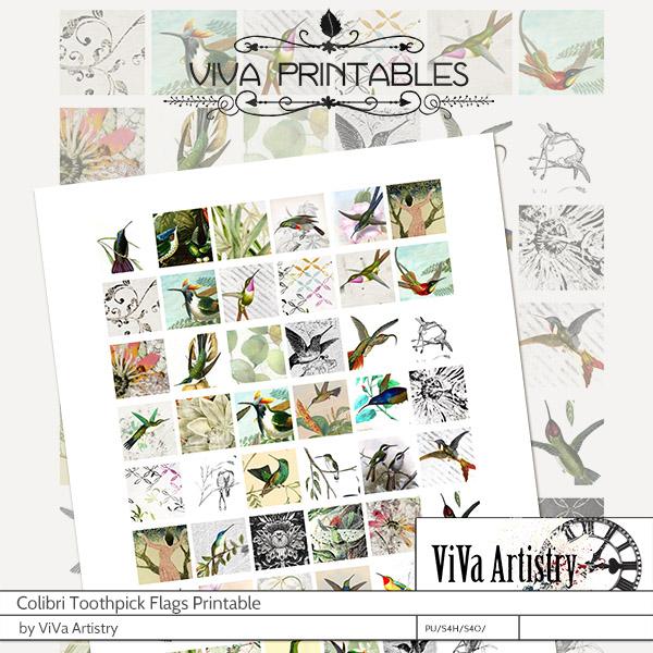 Colibri: Inchies Printables
