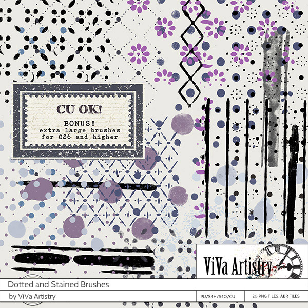 ViVa Artistry's dotted and stained brushes