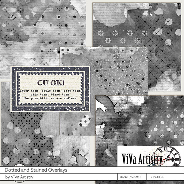 Dotted and Stained Overlays