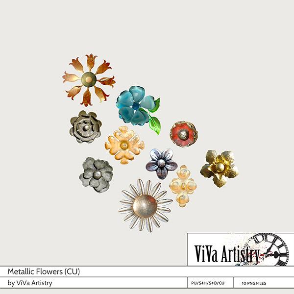 Metallic Flowers CU