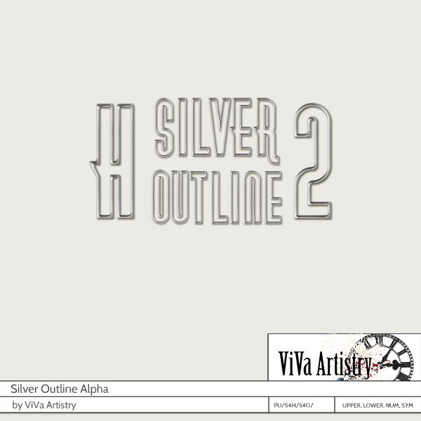 Silver Outline Alpha