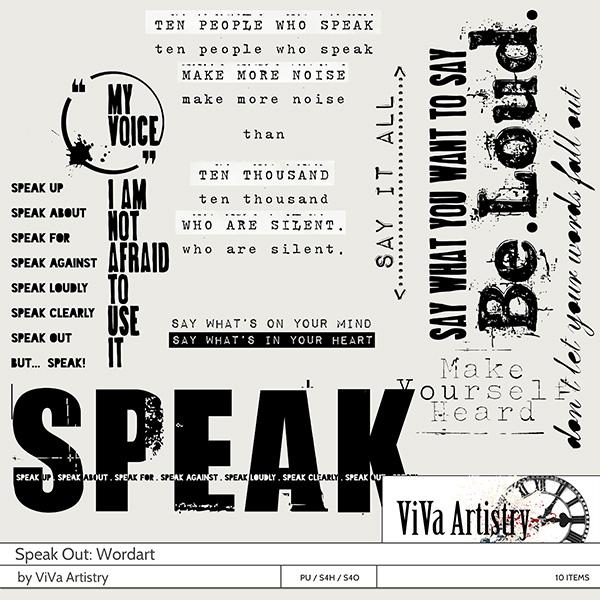 Speak Out Wordart