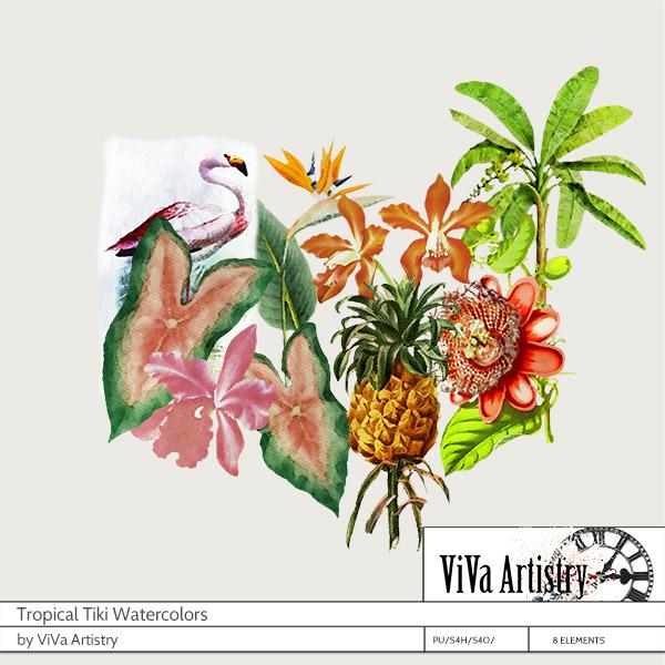 Tropical Tiki Watercolors