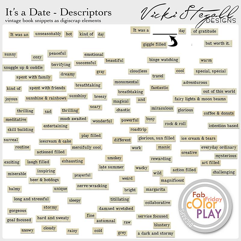 It's a Date Vintage Descriptive Snippets