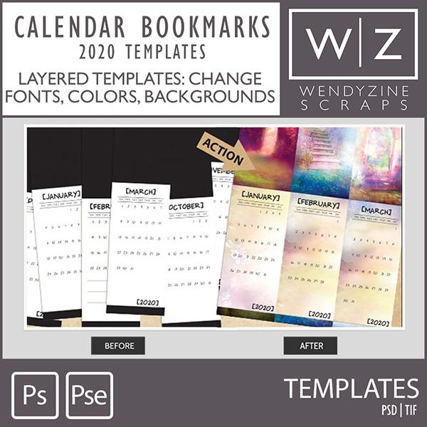 ACTION: 2020 Calendar Bookmarks