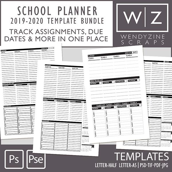 BUNDLE: 2019-2020 School Planner Inserts