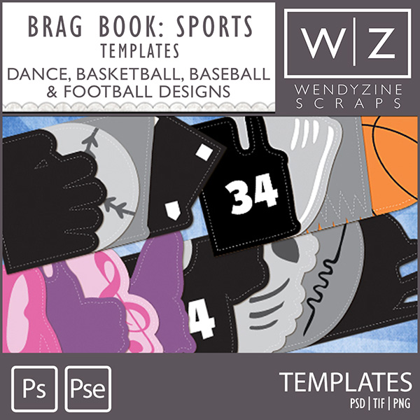"""TEMPLATE: Brag It """"Sports"""" Collection"""