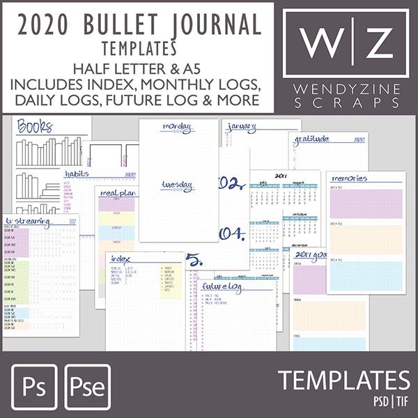 PLANNER: 2020 Bullet Templates