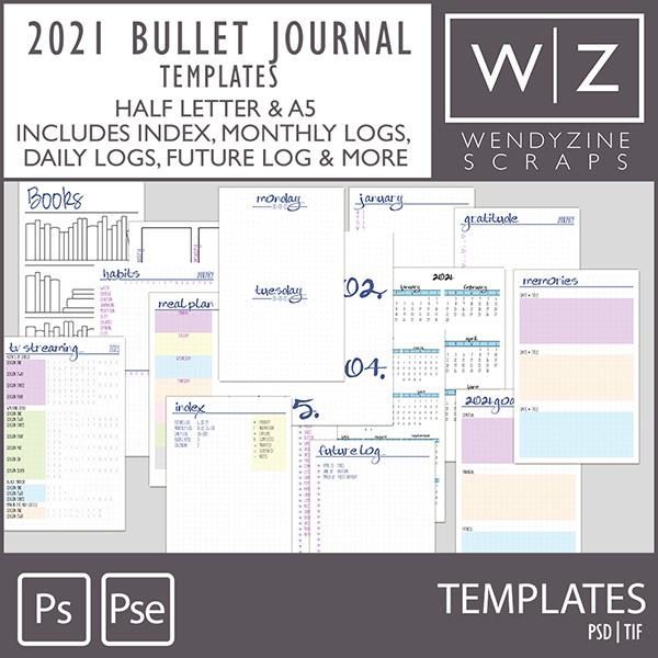 PLANNER: 2021 Bullet Templates