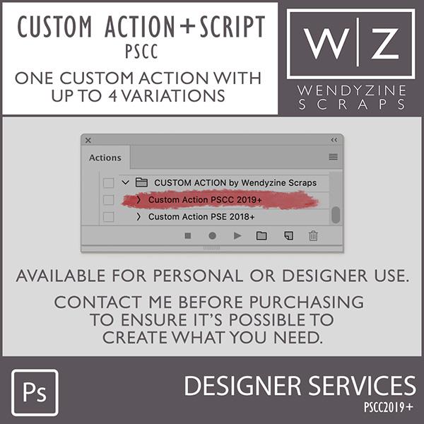 Custom Actions: (with Script) PSCC