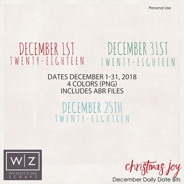 Christmas Joy December Album Dates 2018