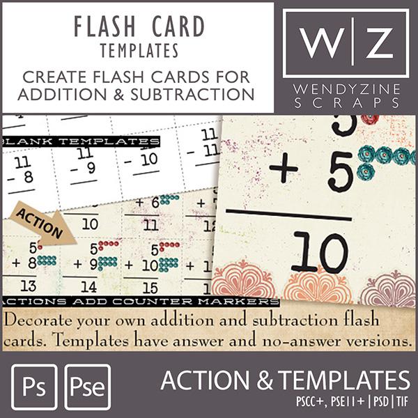 TEMPLATES: Flash Cards w/ Bonus Actions