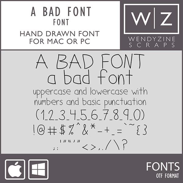 FONT: A Bad Font